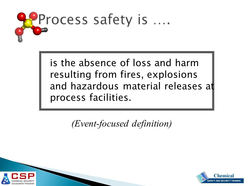 Process safety is ….