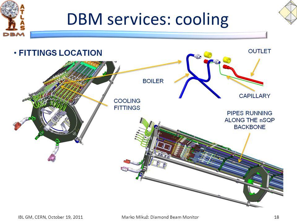 DBM services: cooling IBL GM, CERN, October 19, 2011Marko Mikuž: Diamond Beam Monitor18