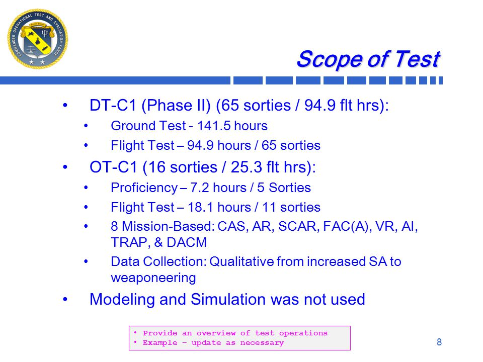 9 Limitations To Test Severe: Major: Minor: List the limitations to test by category.