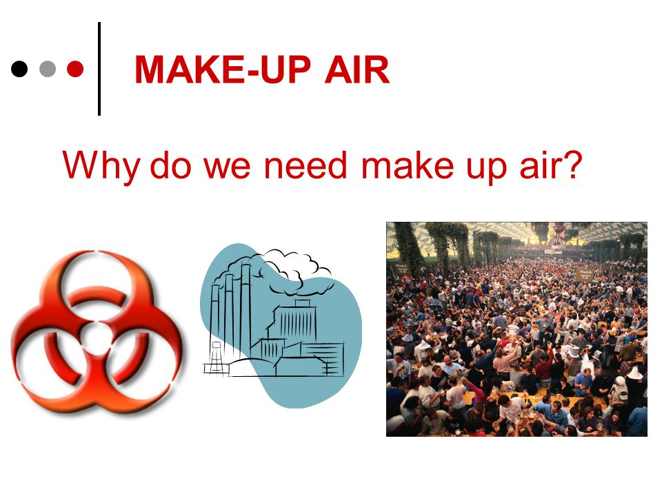 MAKE-UP AIR Why do we need make up air