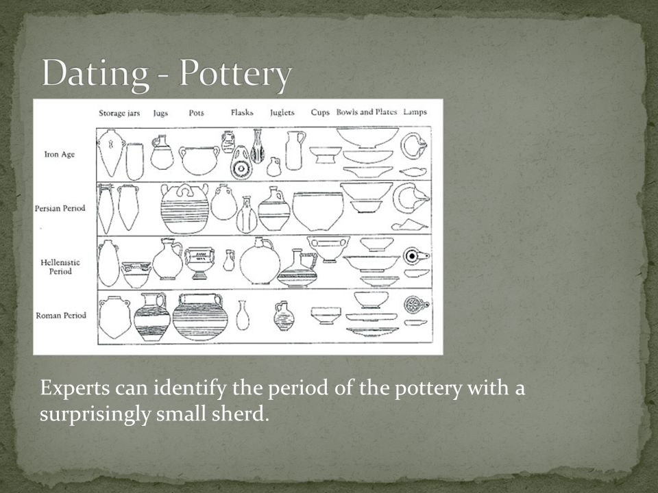 Experts can identify the period of the pottery with a surprisingly small sherd.