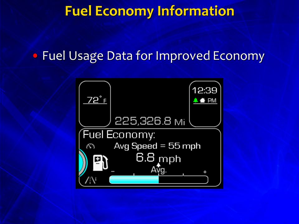 Fuel Economy Information Fuel Usage Data for Improved EconomyFuel Usage Data for Improved Economy