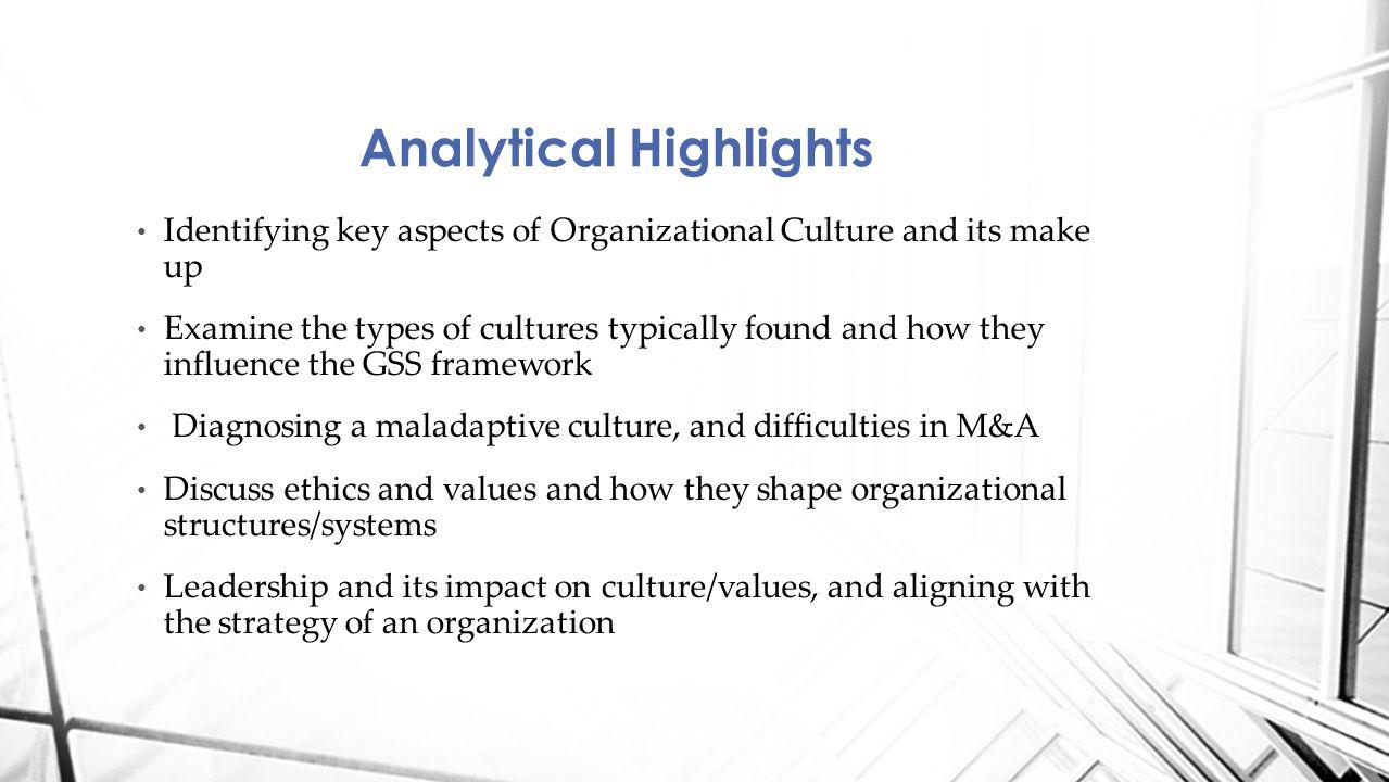 GSS Framework Organizational culture