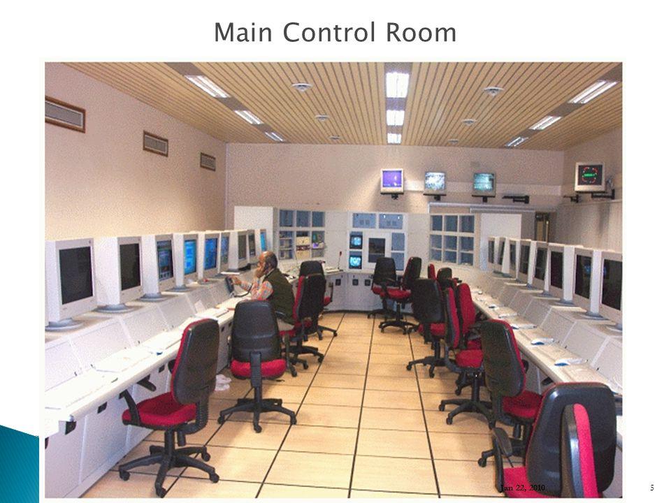 Main Control Room Jan 22, 2010 5