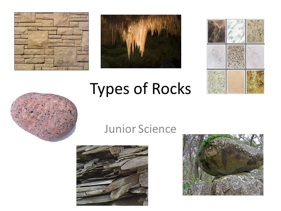 Types of Rocks Junior Science