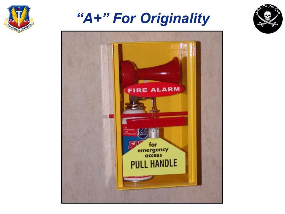 A+ For Originality