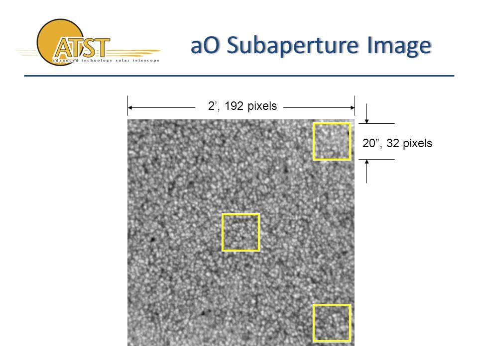 aO Subaperture ImageaO Subaperture Image 2', 192 pixels 20 , 32 pixels