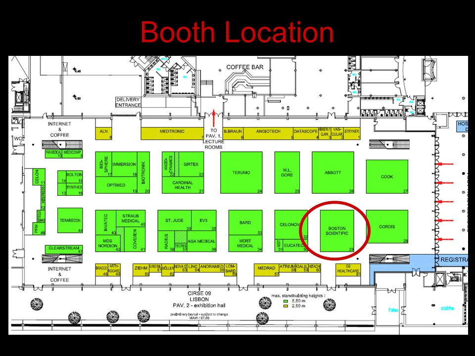Booth Location