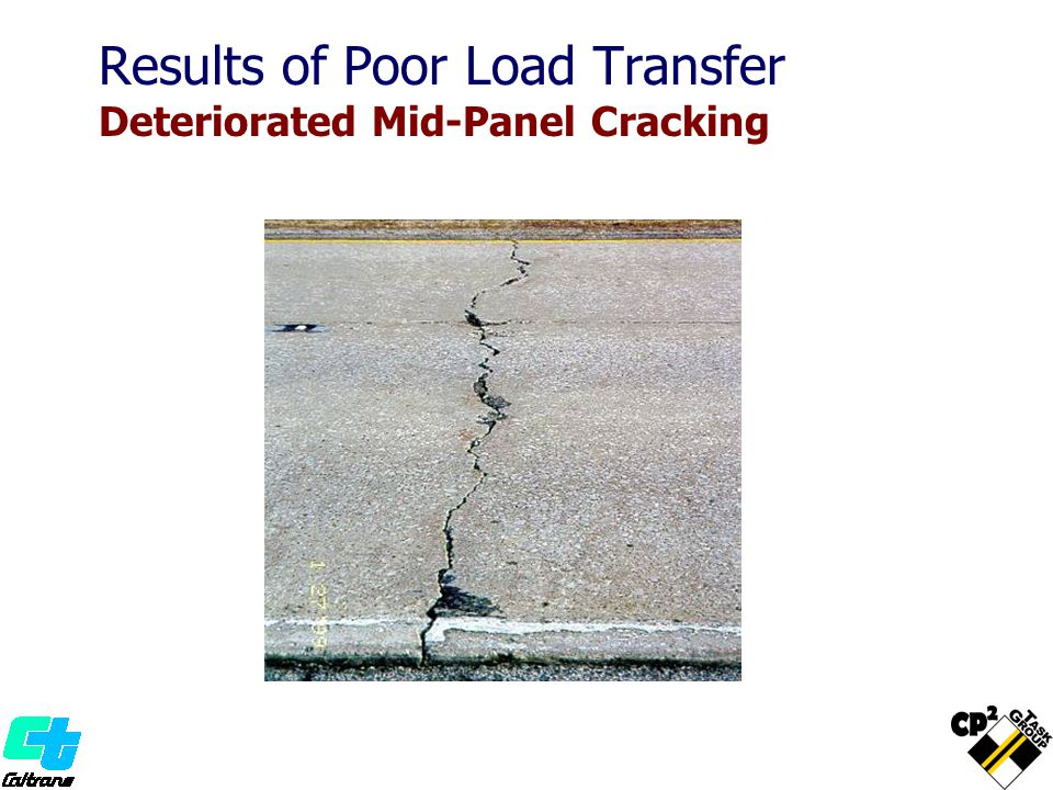 Results of Poor Load Transfer Deteriorated Mid-Panel Cracking