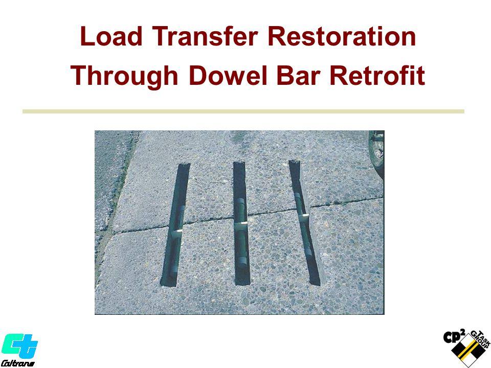 Load Transfer Restoration Through Dowel Bar Retrofit Load Transfer Restoration Through Dowel Bar Retrofit