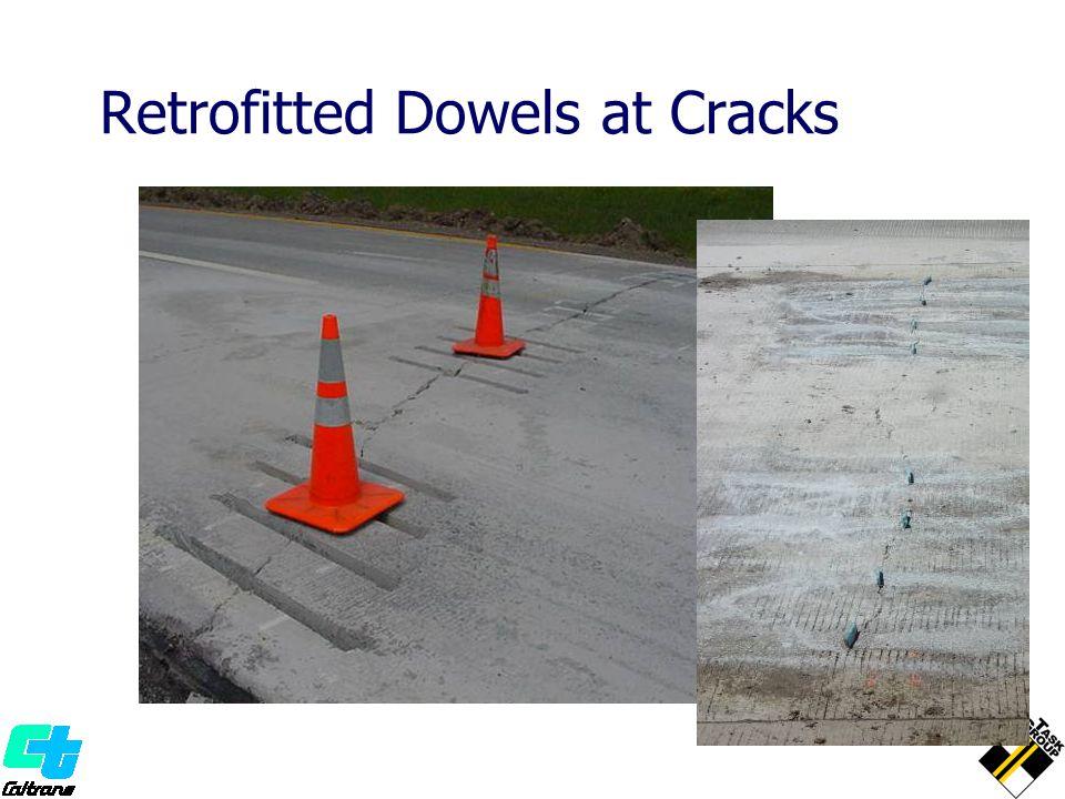 Retrofitted Dowels at Cracks