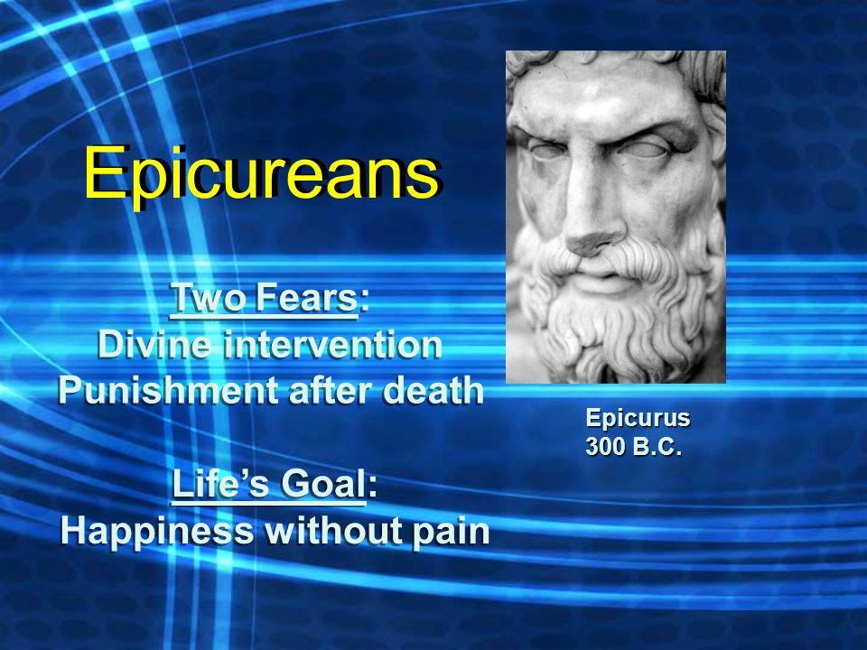 Epicurus 300 B.C.