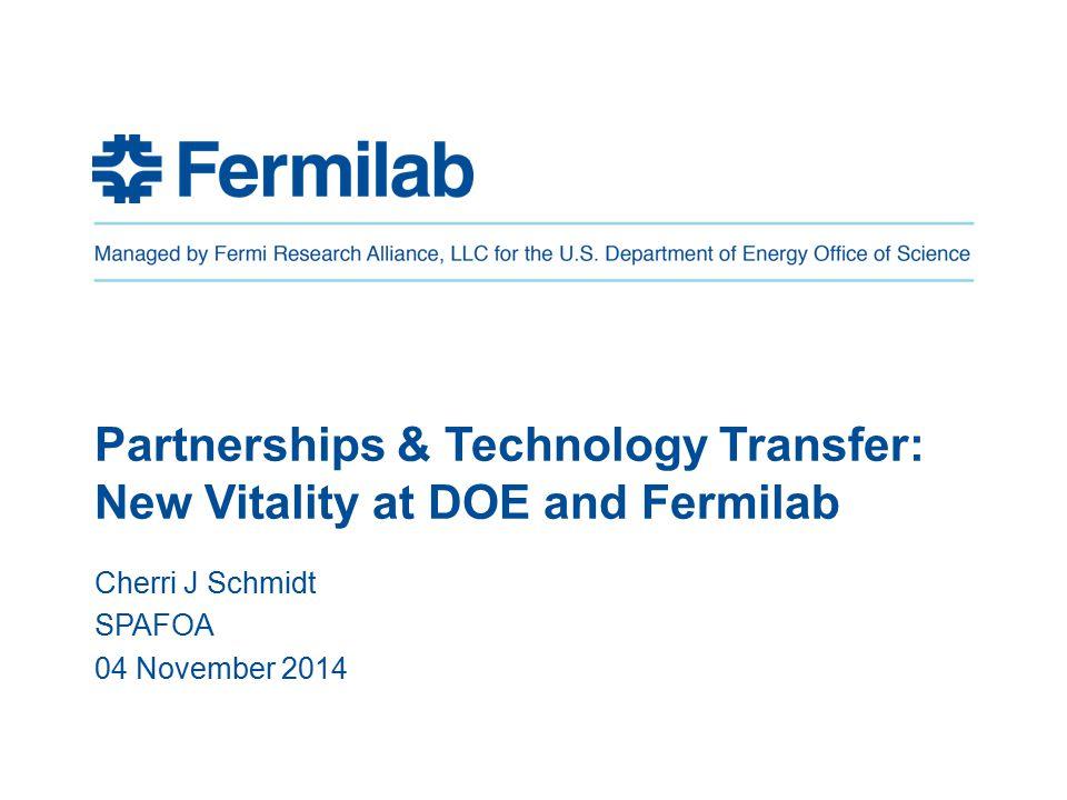 12 Fermilab and Chicago's Innovation Ecosystem CJSchmidt/SPAFOA04-Nov-14