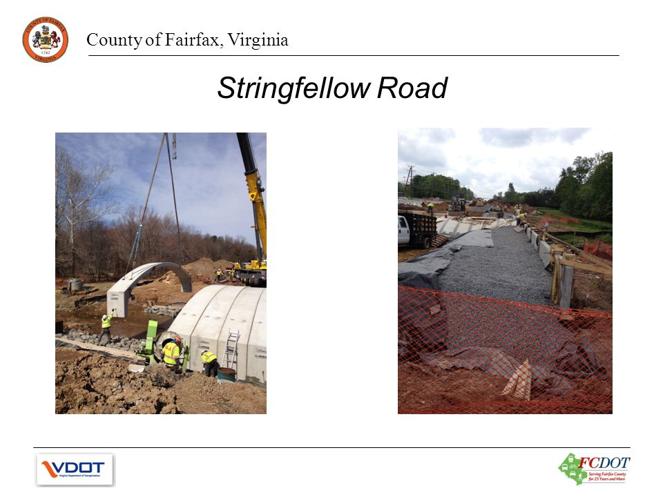 County of Fairfax, Virginia Stringfellow Road