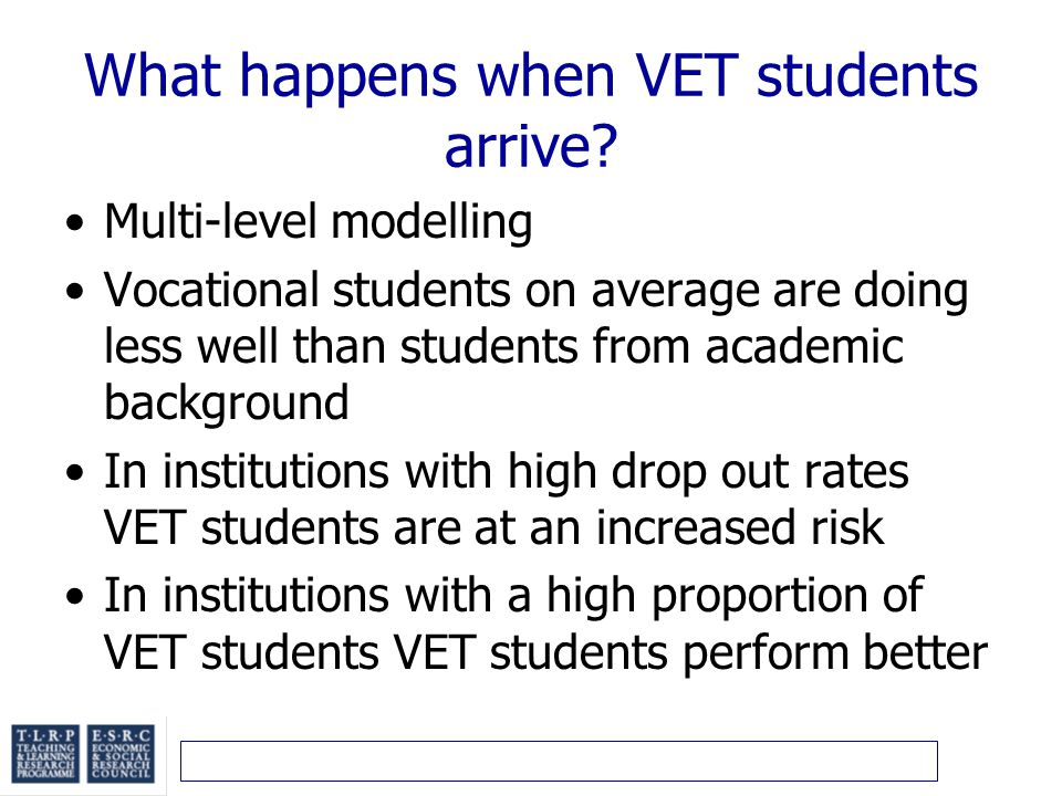 What happens when VET students arrive.