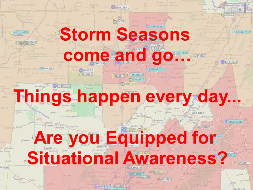 APRS is Clear and Concise The Severe Weather Warning is immediate on APRS The message is clear and concise Relativity is crystal clear –Maximum area of concern is immediately transmitted on the APRS network –Location of spotters is known Nothing is ambiguous.