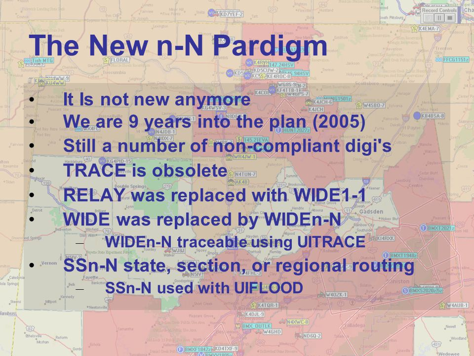 The New n-N Pardigm It Is not new anymore We are 9 years into the plan (2005) Still a number of non-compliant digi's TRACE is obsolete RELAY was repla