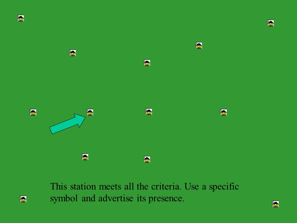 This station meets all the criteria. Use a specific symbol and advertise its presence.