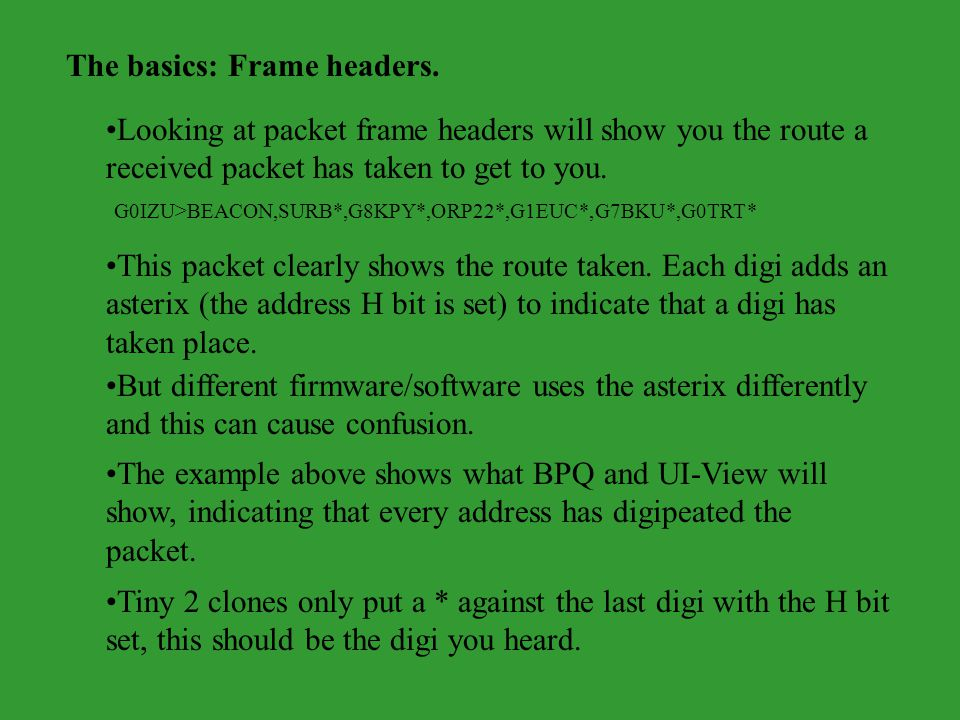 The basics: Frame headers.