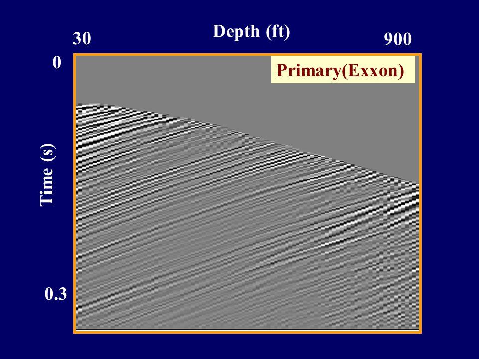 Time (s) 0.3 0 30 900 Depth (ft) Primary(Exxon)