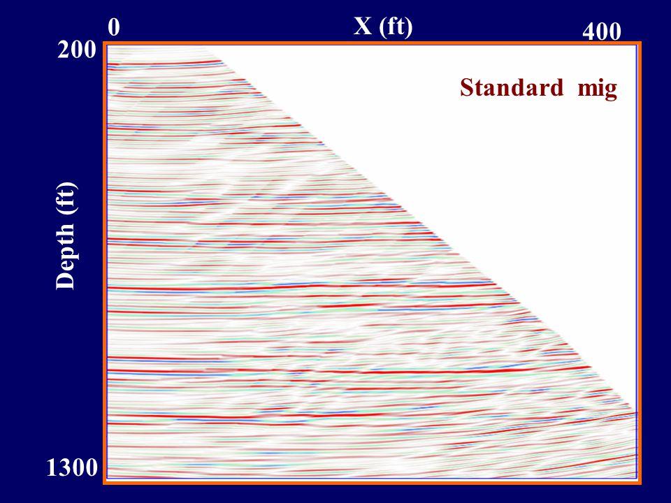 Depth (ft) 1300 200 0 400 X (ft) Standard mig