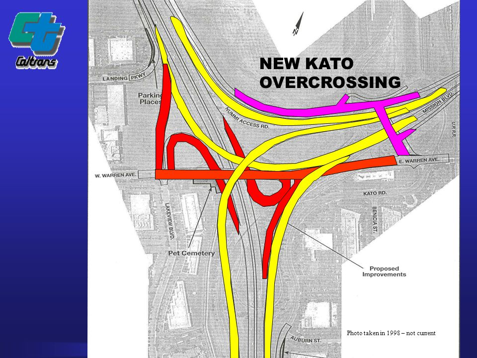 DISTRICT 04 NEW KATO OVERCROSSING Photo taken in 1998 – not current
