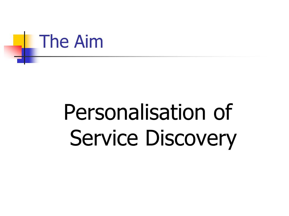 The Aim Personalisation of Service Discovery