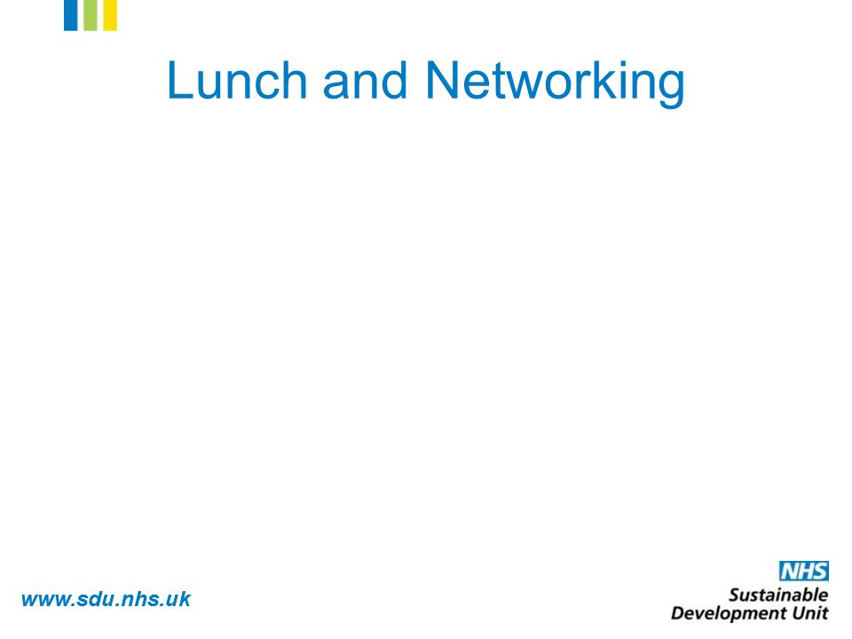 www.sdu.nhs.uk Lunch and Networking