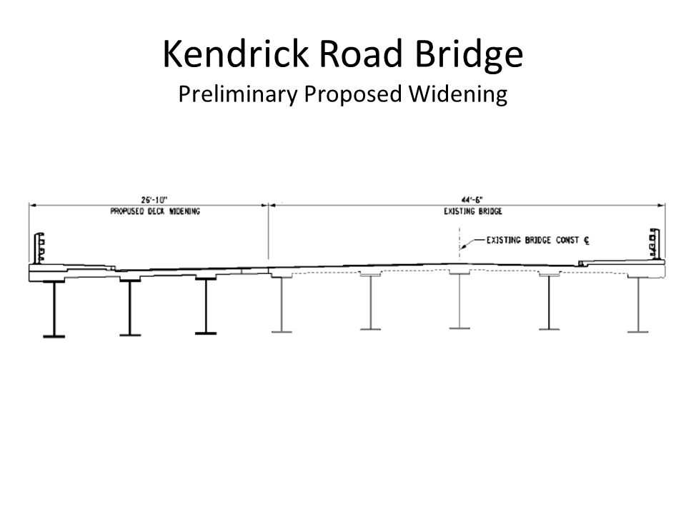 Kendrick Road Bridge Preliminary Proposed Widening