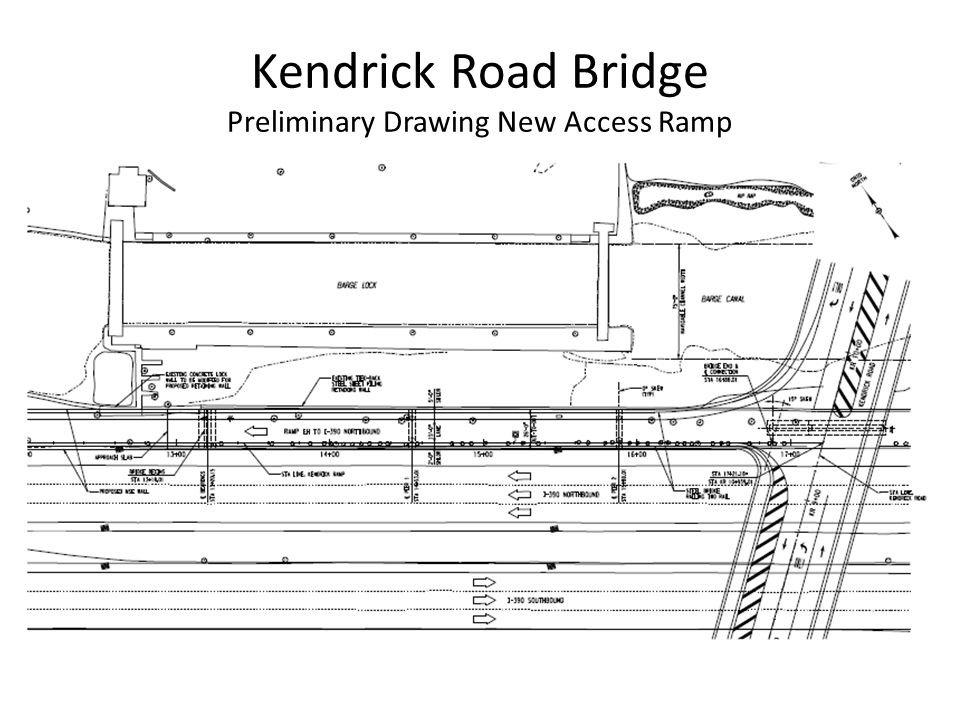 Kendrick Road Bridge Preliminary Drawing New Access Ramp