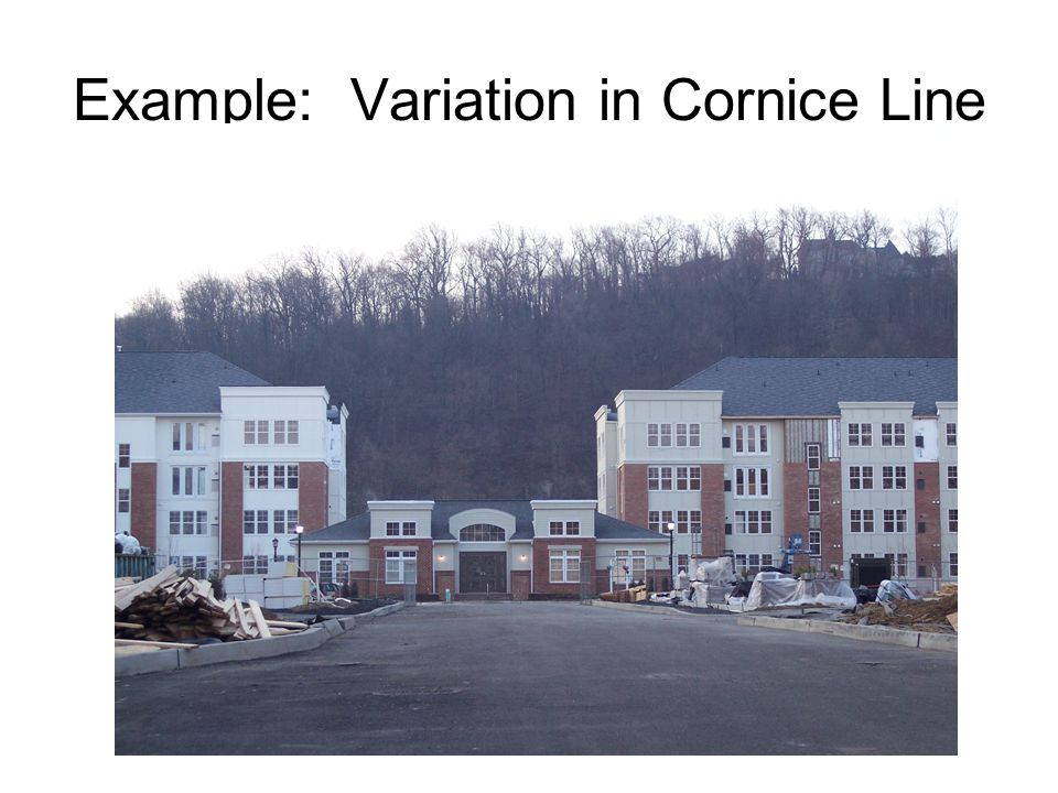 Example: Variation in Cornice Line