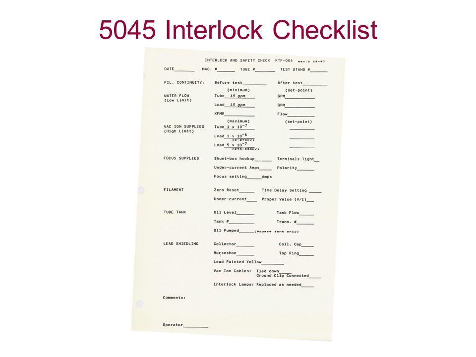 5045 Interlock Checklist