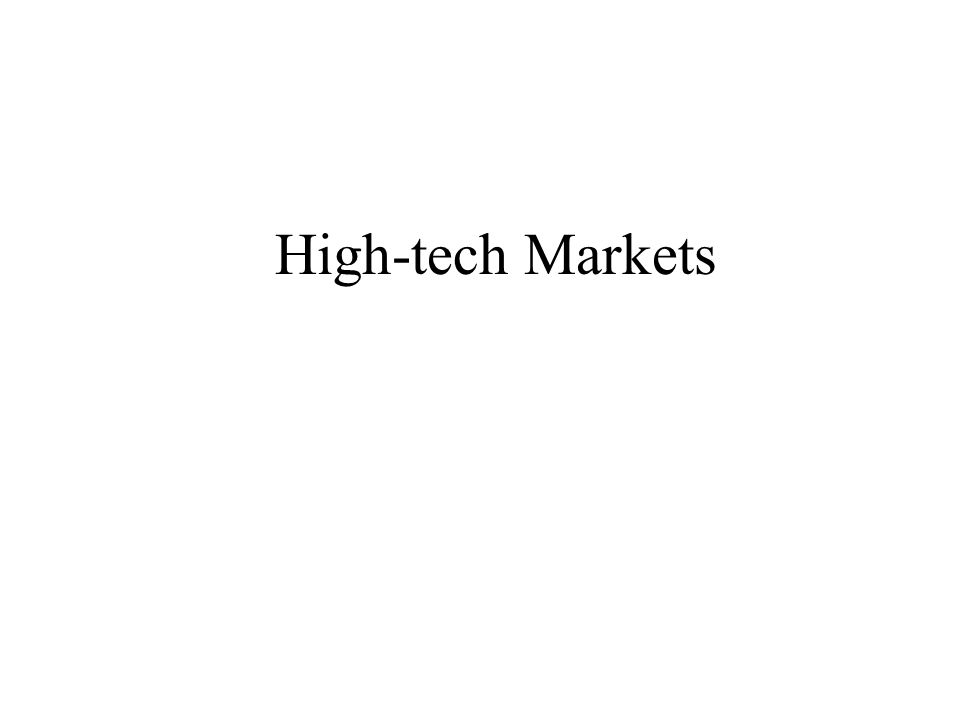 High-tech Markets