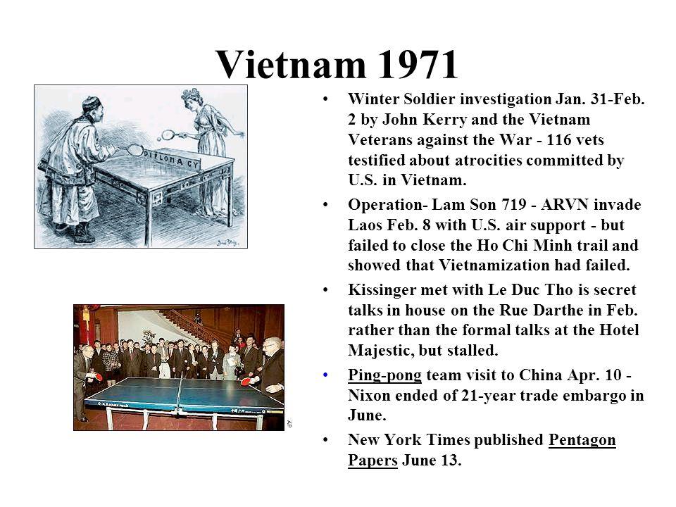 Vietnam 1971 Winter Soldier investigation Jan.31-Feb.