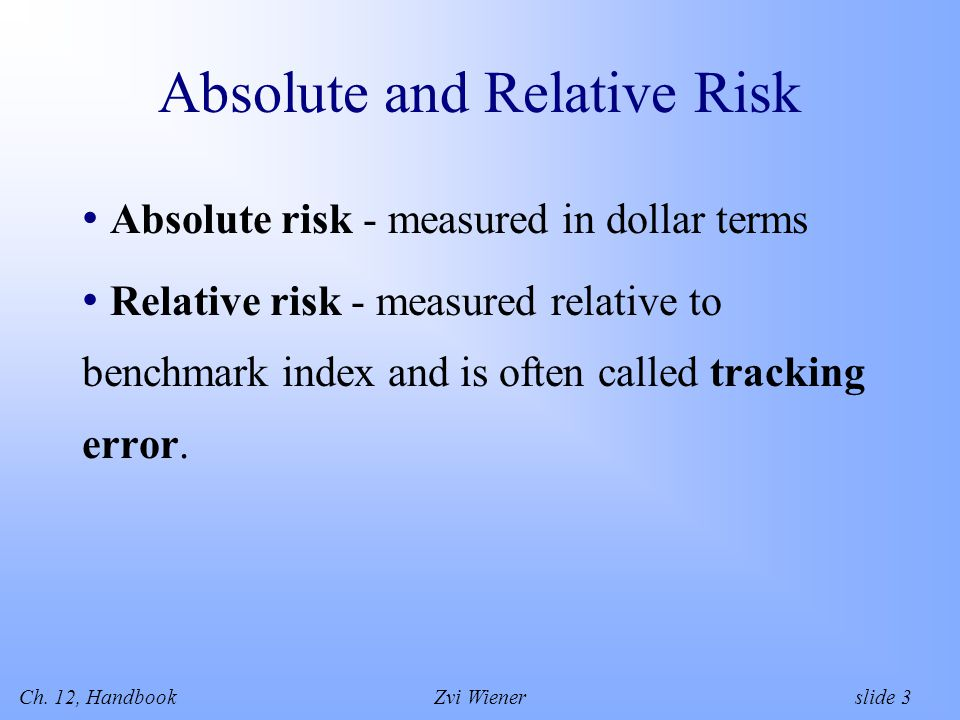 Ch.12, HandbookZvi Wiener slide 14 Liquidity Risk Difficult to measure.