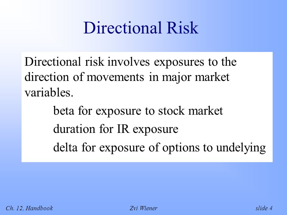 Ch.12, HandbookZvi Wiener slide 15 Funding Liquidity Risk of not meeting payment obligations.