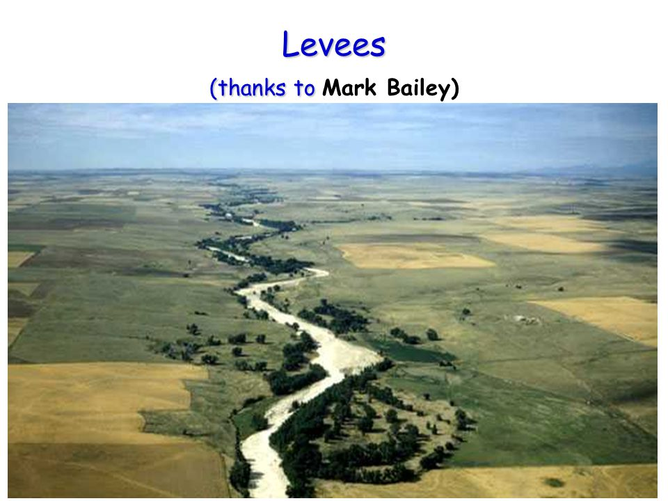 Levees (thanks to Levees (thanks to Mark Bailey)