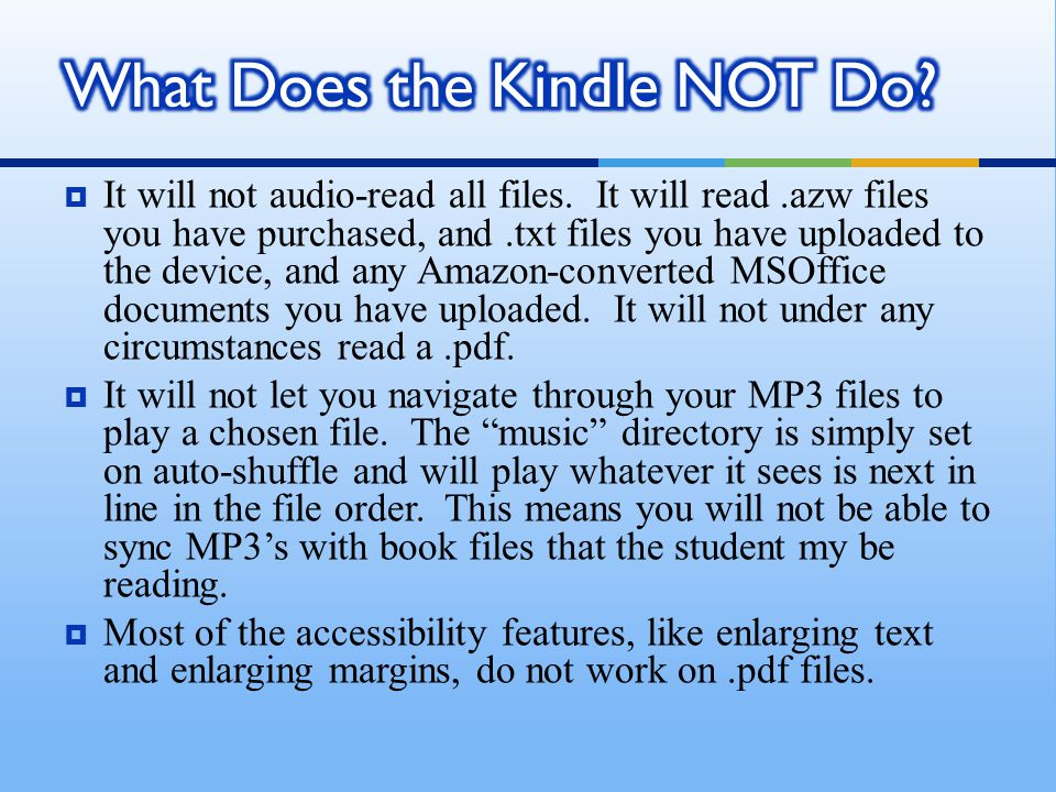  It will not audio-read all files.
