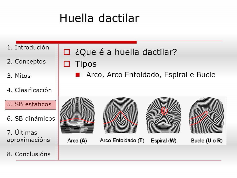 Huella dactilar 1.Introdución 2. Conceptos 3. Mitos 4.