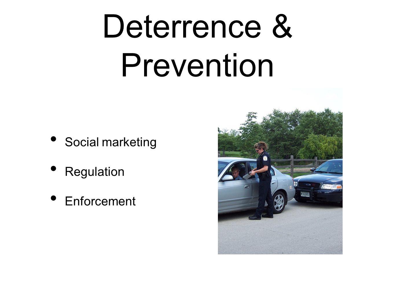 Deterrence & Prevention Social marketing Regulation Enforcement