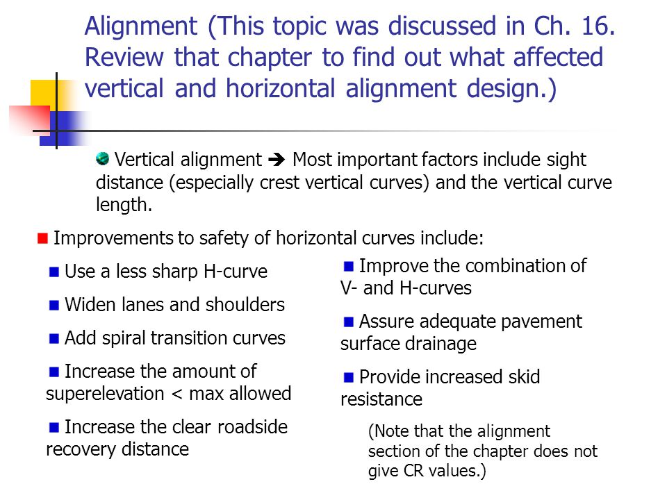 Alignment (This topic was discussed in Ch.16.