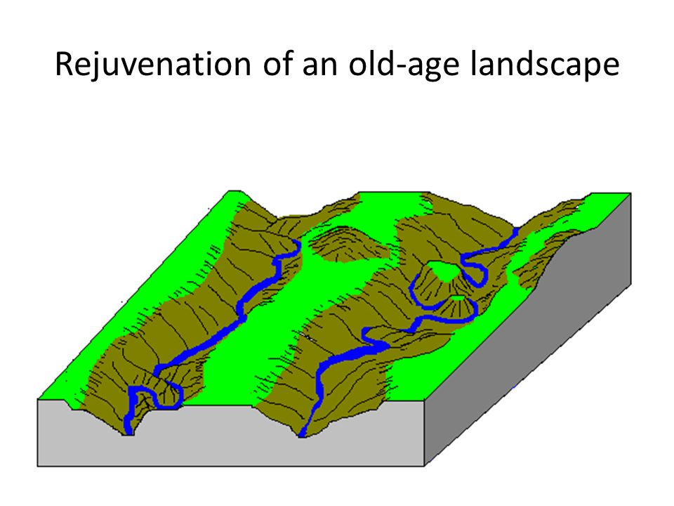 Rejuvenation of an old-age landscape