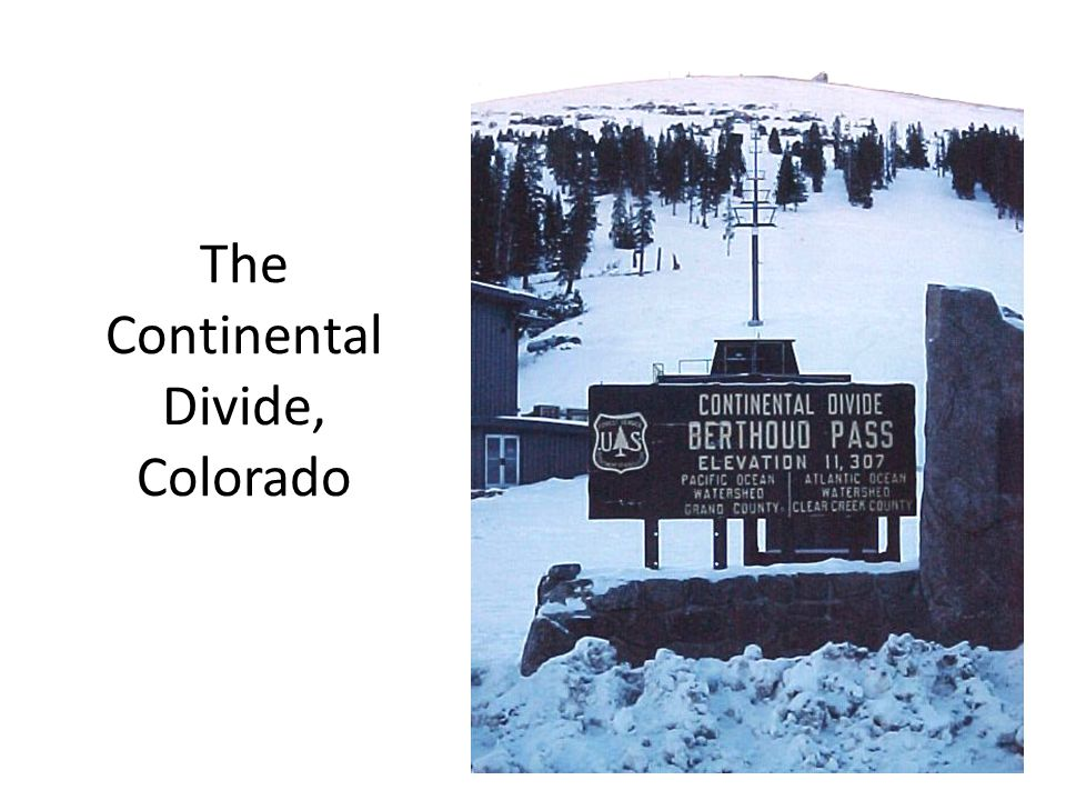 The Continental Divide, Colorado