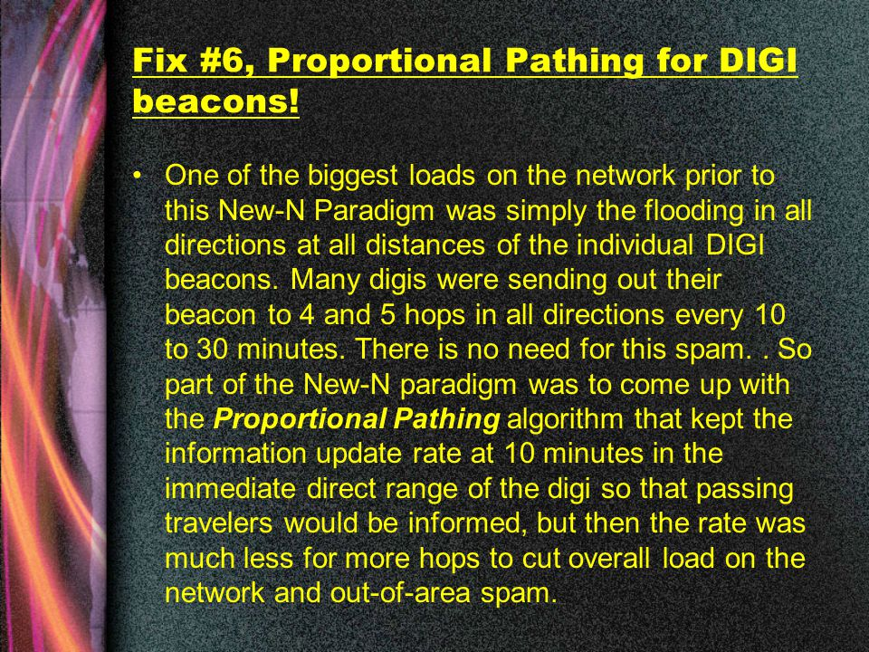 Fix #6, Proportional Pathing for DIGI beacons.