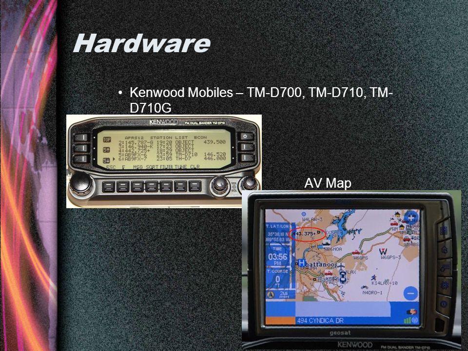 Hardware Kenwood Mobiles – TM-D700, TM-D710, TM- D710G AV Map
