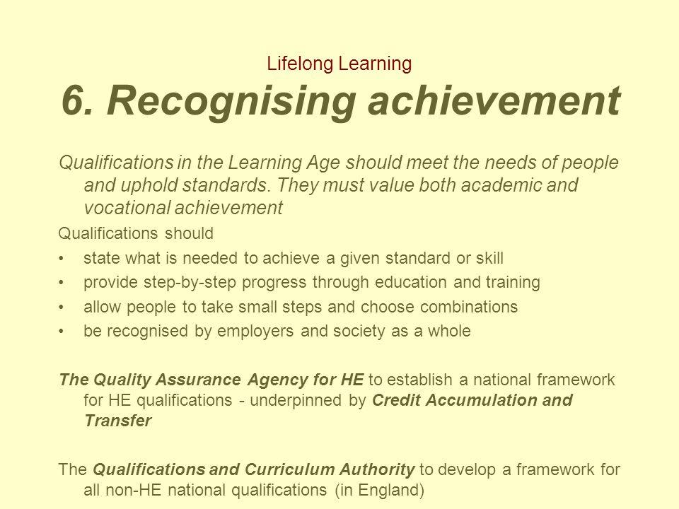 Lifelong Learning 6.