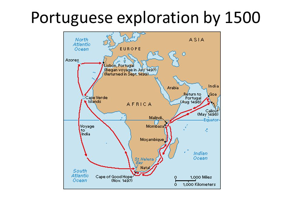 Portuguese exploration by 1500