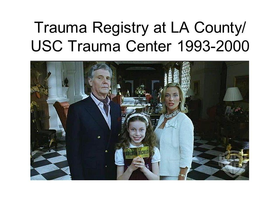 Trauma Registry at LA County/ USC Trauma Center 1993-2000