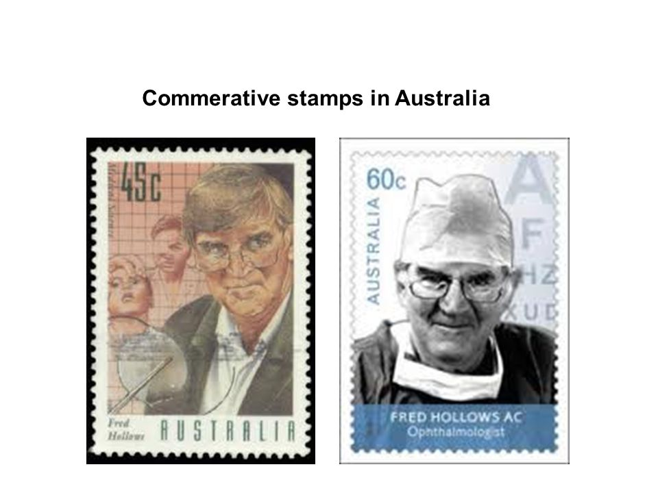 Commerative stamps in Australia