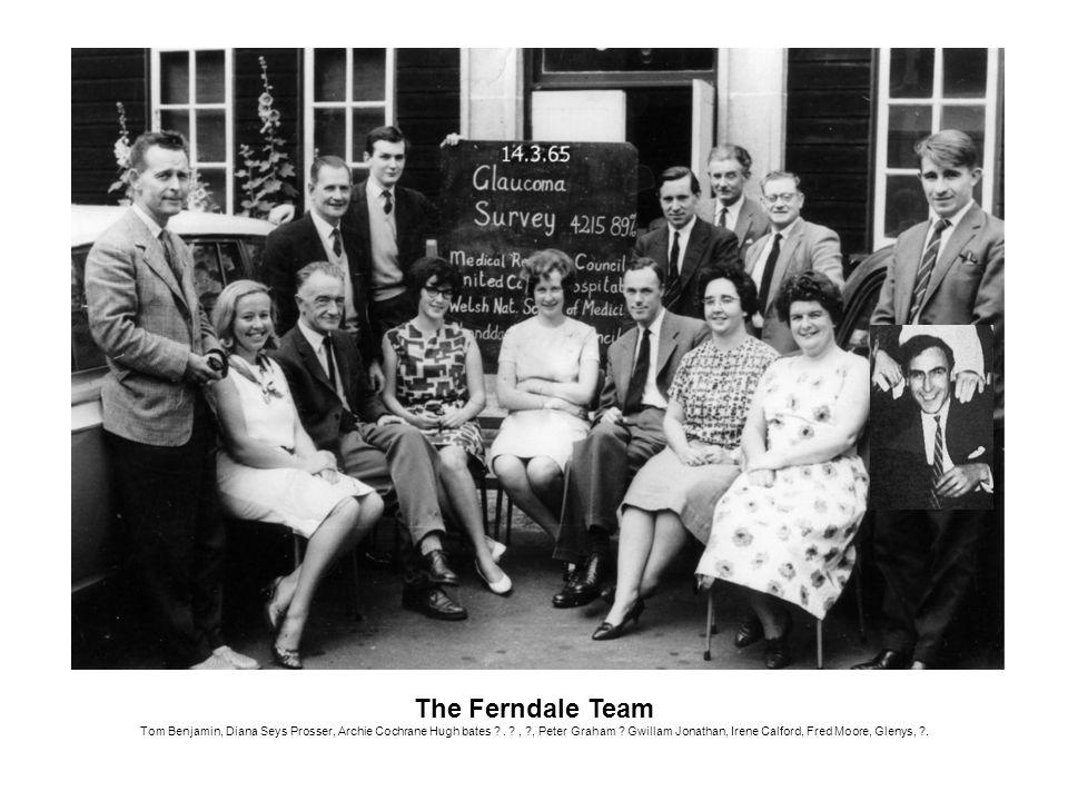 The Ferndale Team Tom Benjamin, Diana Seys Prosser, Archie Cochrane Hugh bates ?. ?, ?, Peter Graham ? Gwillam Jonathan, Irene Calford, Fred Moore, Gl